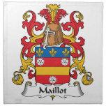Escudo de la familia de Maillot Servilletas
