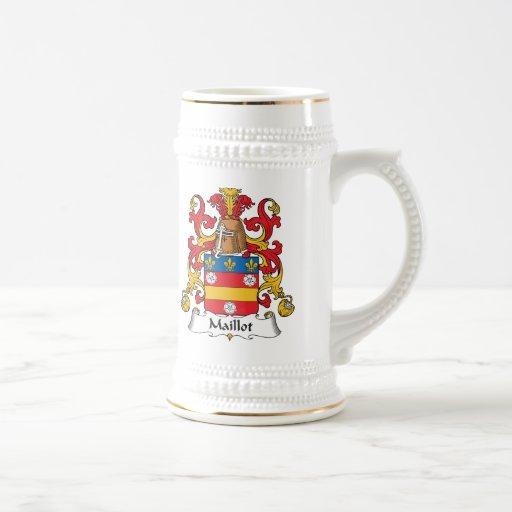 Escudo de la familia de Maillot Taza De Café
