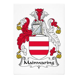 Escudo de la familia de Mainwaring Invitaciones Personalizada