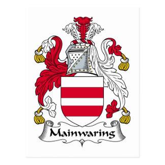Escudo de la familia de Mainwaring Postal