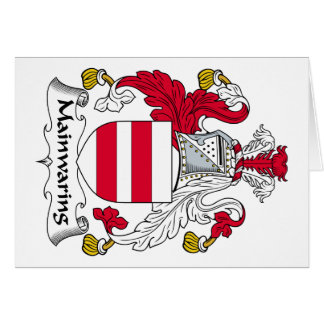 Escudo de la familia de Mainwaring Tarjetas