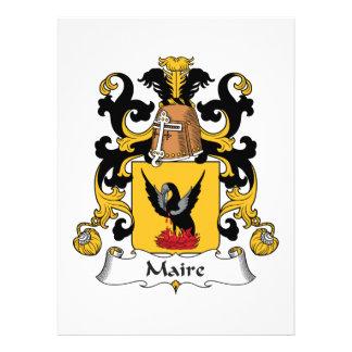 Escudo de la familia de Maire Comunicado Personal