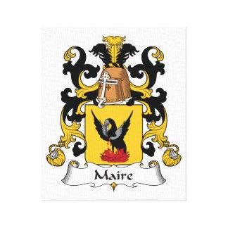 Escudo de la familia de Maire Impresiones En Lienzo Estiradas