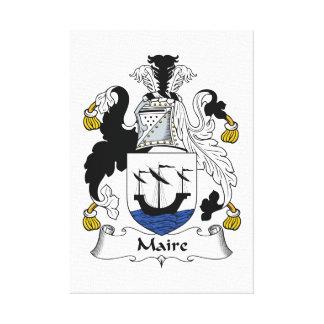 Escudo de la familia de Maire Impresión En Lona Estirada