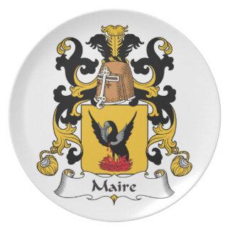 Escudo de la familia de Maire Plato Para Fiesta