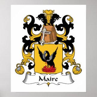 Escudo de la familia de Maire Posters