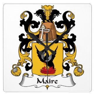 Escudo de la familia de Maire Reloj