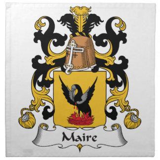 Escudo de la familia de Maire Servilleta De Papel