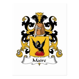 Escudo de la familia de Maire Tarjeta Postal