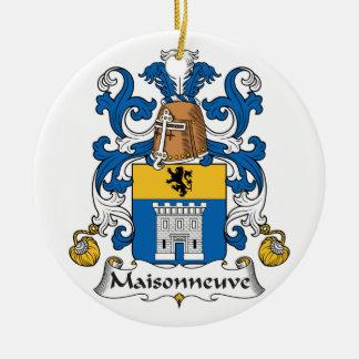 Escudo de la familia de Maisonneuve Adorno Navideño Redondo De Cerámica