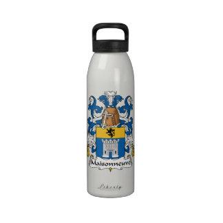 Escudo de la familia de Maisonneuve Botella De Beber