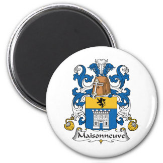 Escudo de la familia de Maisonneuve Imán Redondo 5 Cm