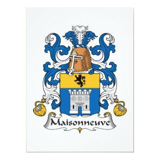 "Escudo de la familia de Maisonneuve Invitación 6.5"" X 8.75"""