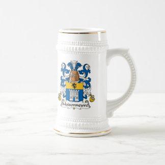 Escudo de la familia de Maisonneuve Jarra De Cerveza