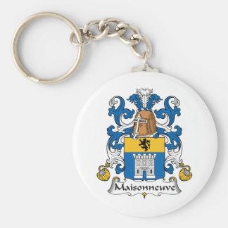 Escudo de la familia de Maisonneuve Llavero Redondo Tipo Pin