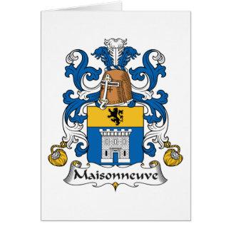 Escudo de la familia de Maisonneuve Tarjeta De Felicitación