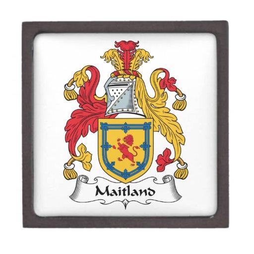 Escudo de la familia de Maitland Caja De Recuerdo De Calidad