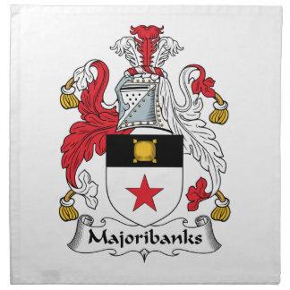 Escudo de la familia de Majoribanks Servilleta Imprimida