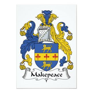 """Escudo de la familia de Makepeace Invitación 5"""" X 7"""""""