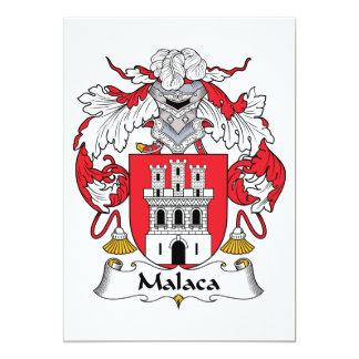 """Escudo de la familia de Malaca Invitación 5"""" X 7"""""""