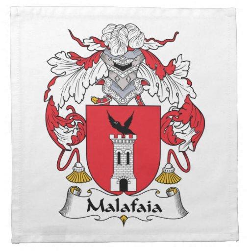 Escudo de la familia de Malafaia Servilletas