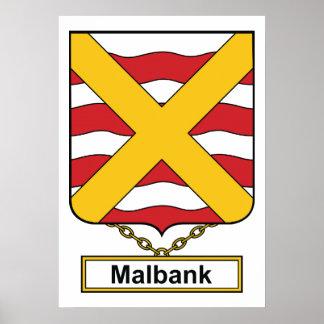 Escudo de la familia de Malbank Póster