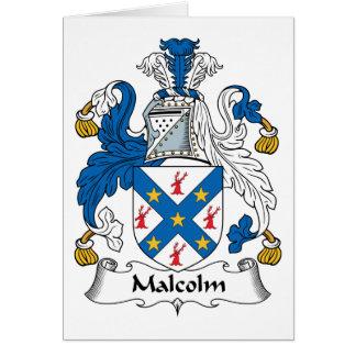 Escudo de la familia de Malcolm Felicitaciones
