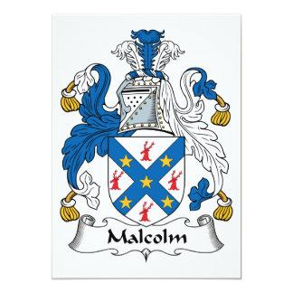 Escudo de la familia de Malcolm Invitación 12,7 X 17,8 Cm