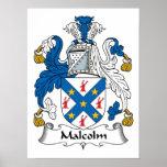 Escudo de la familia de Malcolm Poster