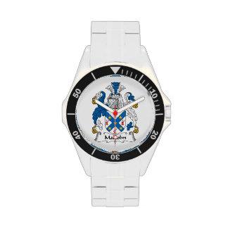 Escudo de la familia de Malcolm Reloj De Mano