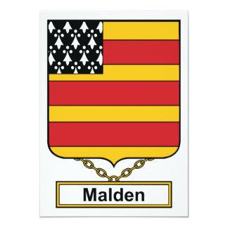 """Escudo de la familia de Malden Invitación 4.5"""" X 6.25"""""""