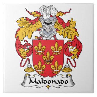 Escudo de la familia de Maldonado Azulejo Cuadrado Grande