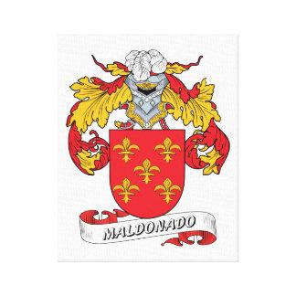 Escudo de la familia de Maldonado Impresión En Lienzo