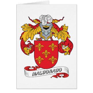 Escudo de la familia de Maldonado Tarjeta De Felicitación