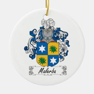 Escudo de la familia de Malerba Adorno Navideño Redondo De Cerámica