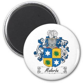 Escudo de la familia de Malerba Imán Redondo 5 Cm