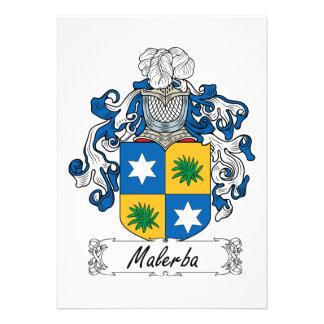 Escudo de la familia de Malerba Invitación