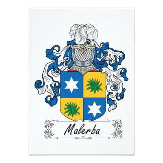"""Escudo de la familia de Malerba Invitación 5"""" X 7"""""""