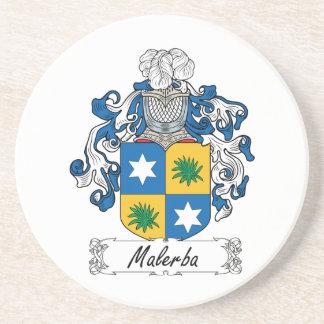 Escudo de la familia de Malerba Posavasos De Arenisca