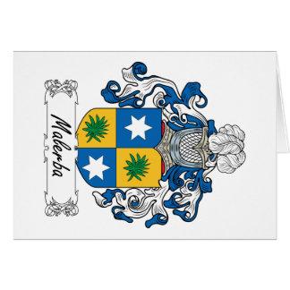 Escudo de la familia de Malerba Tarjetas
