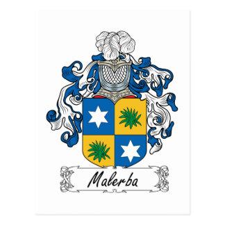 Escudo de la familia de Malerba Tarjeta Postal