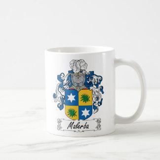 Escudo de la familia de Malerba Taza Básica Blanca