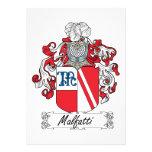 Escudo de la familia de Malfatti Invitacion Personalizada