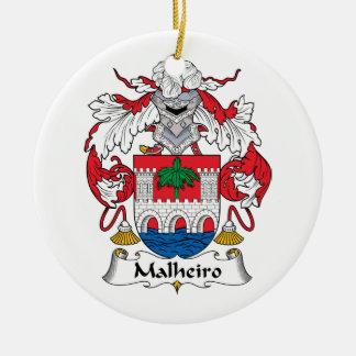 Escudo de la familia de Malheiro Adorno Redondo De Cerámica