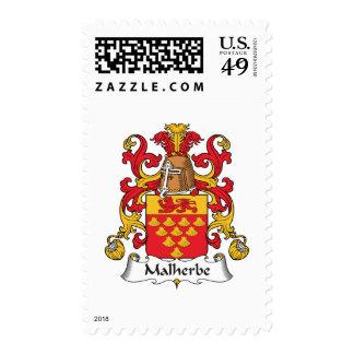 Escudo de la familia de Malherbe Sello