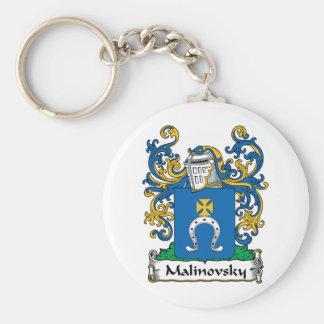 Escudo de la familia de Malinovsky Llaveros Personalizados
