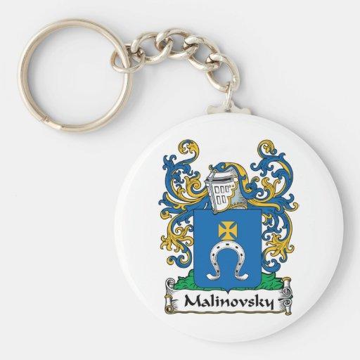 Escudo de la familia de Malinovsky Llavero Redondo Tipo Pin