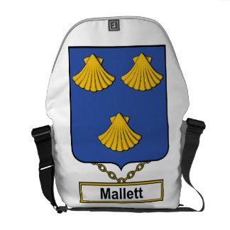 Escudo de la familia de Mallett Bolsas De Mensajeria