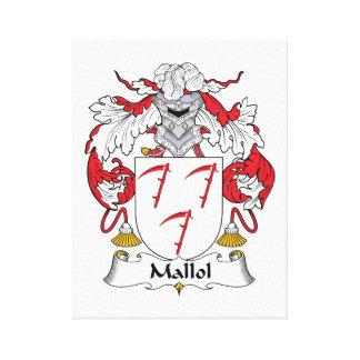 Escudo de la familia de Mallol Impresiones En Lienzo Estiradas