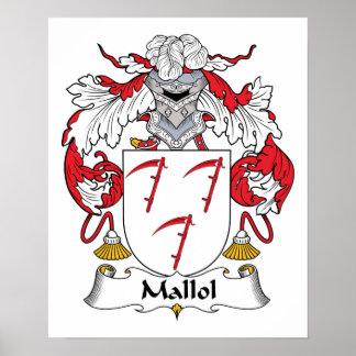 Escudo de la familia de Mallol Posters